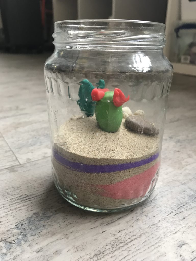 glazen potje cactus creatief kinderfeestje Almelo