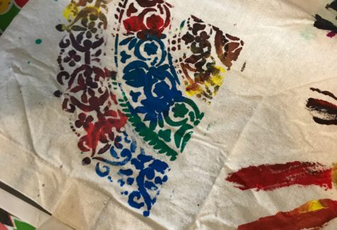 textiel print creatief kinderfeestje Almelo