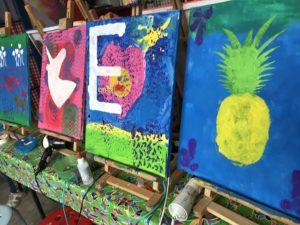 kinderfeestje schilderen ezel Almelo Kijk& Doe