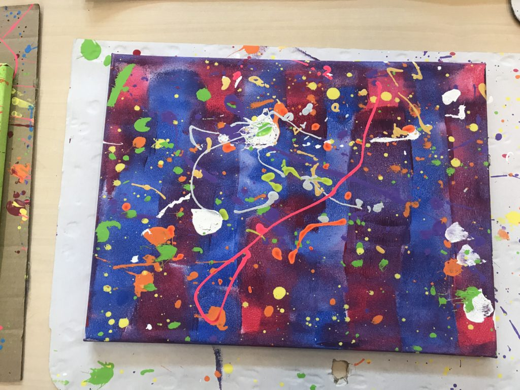 action painting kunsteducatie almelo