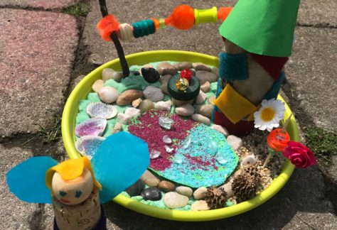 fee kabouter landschap creatief knutselen Almelo kinderfeestje