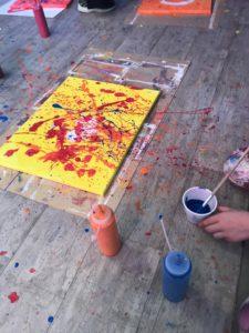 action painting kinderfeestje almelo creatief
