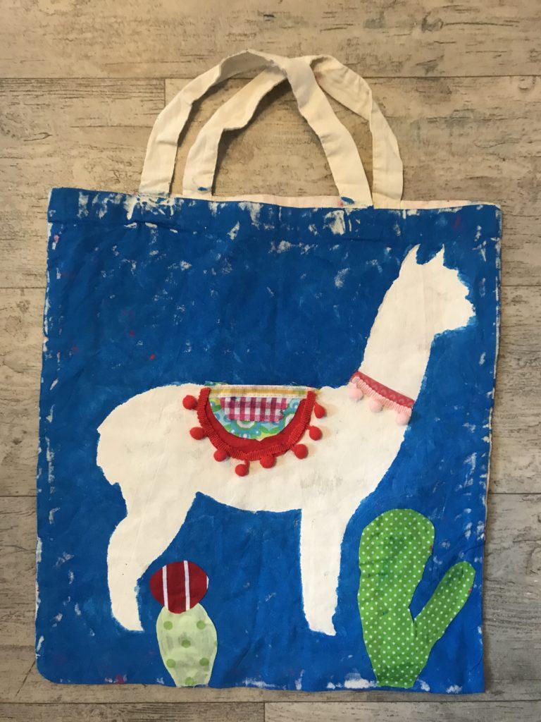 Textiel print kinderfeestje lama Almelo