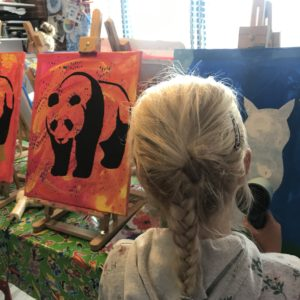 kinderfeestje schilderen ezel Almelo Kijk & Doe