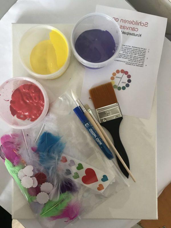 knutselpakket schilderen op canvas Kijk & Doe
