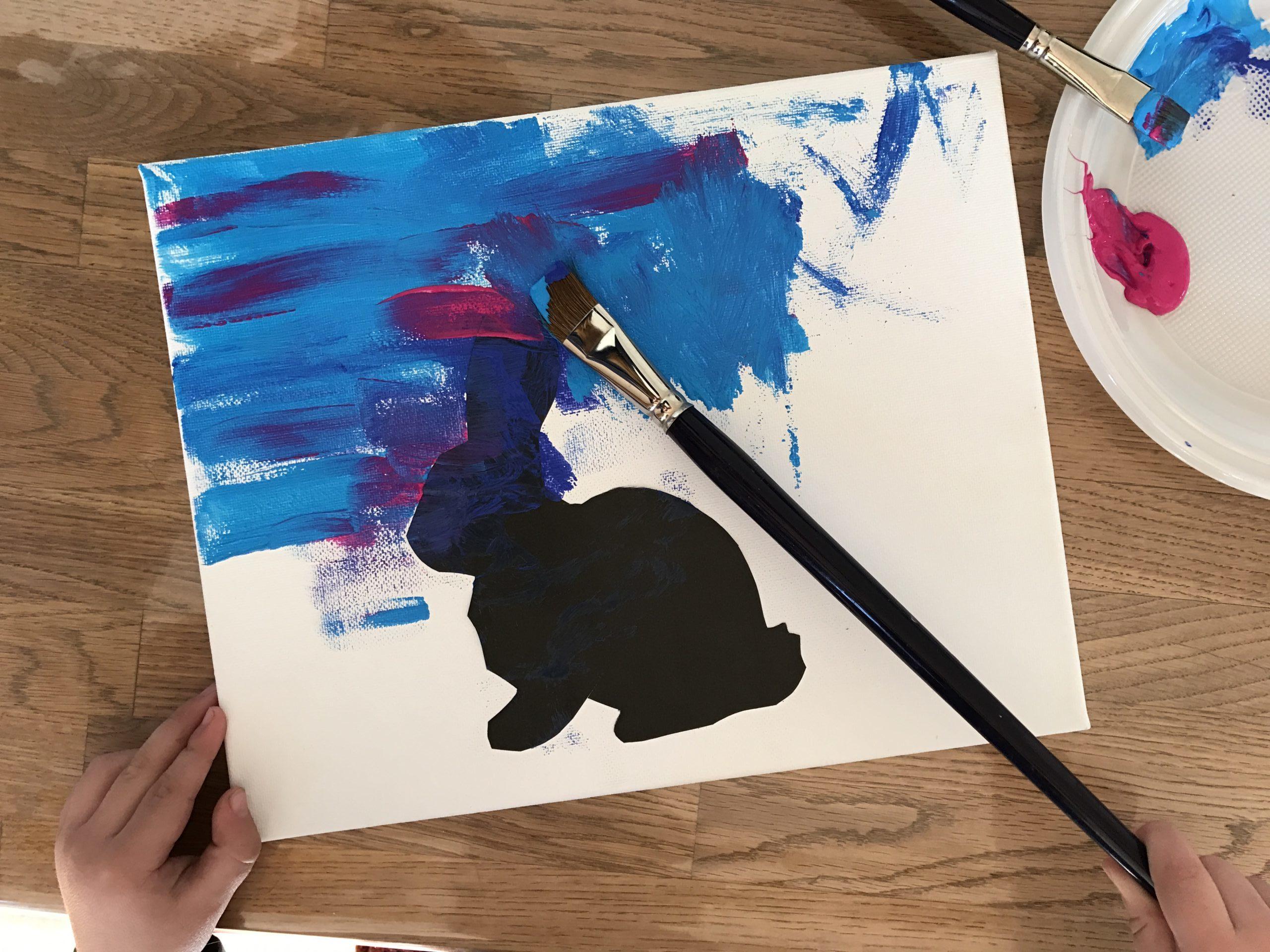 paashaas schilderen