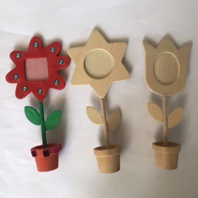 houten bloem knutselpakket