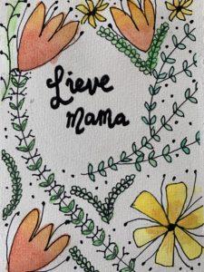 moederdag kaart voorkant