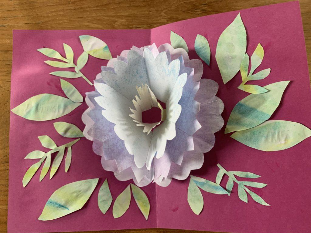 moederdag kaart bloem