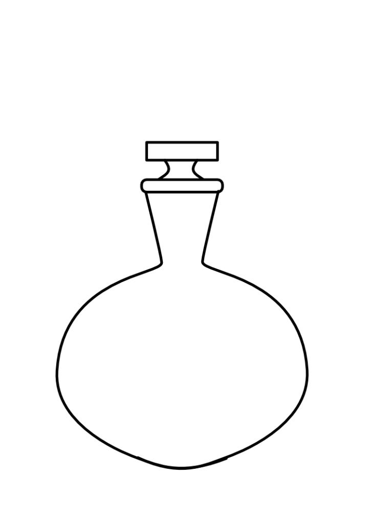 ronde fles tekenen