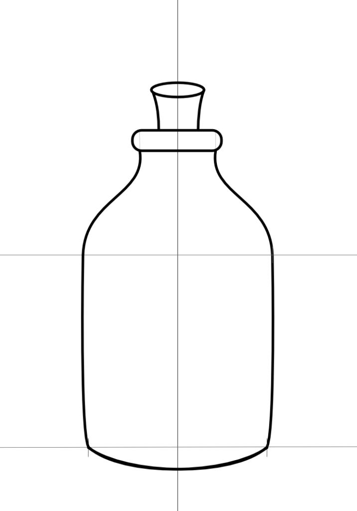 fles tekenen