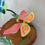 mixed media vlinder Kijk & Doe