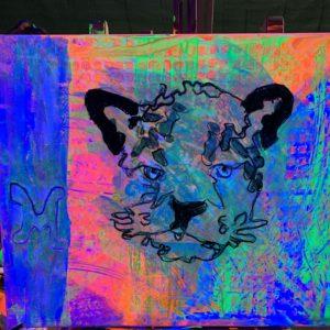 schilderen in black light kinderfeestje Kijk & Doe